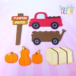Pumpkin Patch Play Set for Dress Up dolls  - Embroidery Design 5x7 hoop or larger